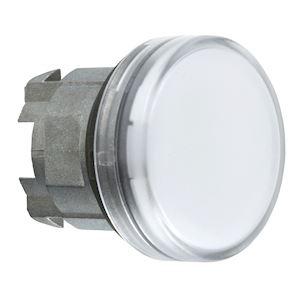 Harmony XB4 - tête voyant LED - cabochon lisse - blanc - D=22