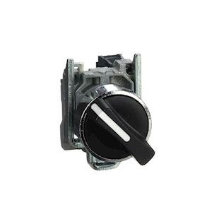 Harmony XB4 - bouton tournant manette - D=22 - 2 pos fix - noir - 1F - vis étrie