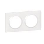 Plaque carrée dooxie 2 postes finition blanc