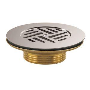 Bonde laiton évier D=60 mm, grille inox D=85 mm, serrage 0/55 mm, NF