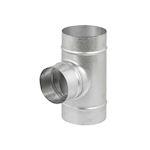 Té équerre à 90DEG en acier galvanisé, D 80/80 mm