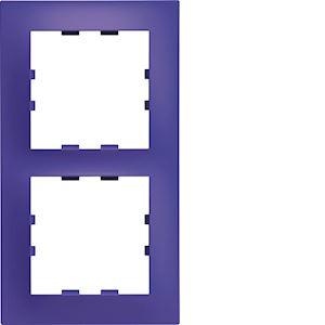 Kallysta pop plaque 2 postes verticale entraxe 71 coloris Cobalt