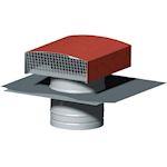 Chapeau de toiture métallique, D 125 mm, rejet 295 m3/h, asp 160 m3/h, tuile