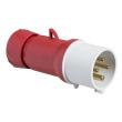 PratiKa - fiche mobile industrielle droite 16 A - 3P+T - 380-415 V CA - IP44