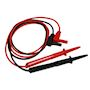 Jeu de cordons droits pointe de touche 2mm rouge et noir en PVC.CATIV 1000V