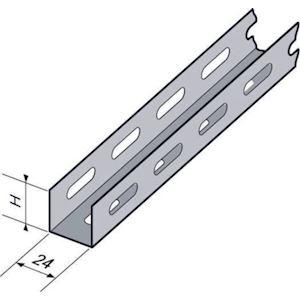 Profilé perforé UD A540 24x24x1.75, 3m, SZ