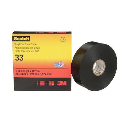19 mm x 33 m ruban isolant PVC noir non excédentaire
