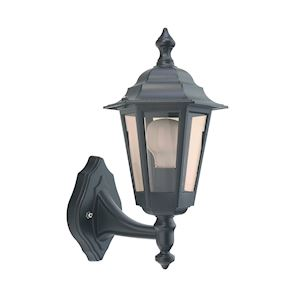 NIZA - Applique Mur Ext. IP44 IK02, noir, E27 46W max., lampe non incl.