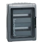 Coffret Plexo³ 2x12 modules avec embouts perforation directe prémontés IP65 IK09