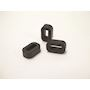 Embase en anneau 10x4.5mm pour collier d'installation 9 mm en PA66 noir - LOK04