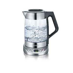 Bouilloire en verre eau et thé Deluxe, 3000 W, 1.7l. (eau), 1.5l. (thé), rotativ