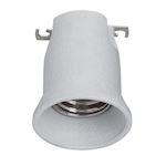 Douille en porcelaine pour éclairage public monobloc avec frein de culot E40