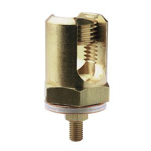 Serre-fils 35 à 95mm²-Trou fixation: M7-Avec 2 rondelles bimétalliques + boulon