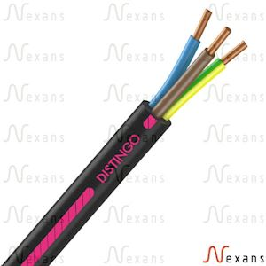 Câble rigide R2V Distingo cuivre 3G1,5 couronne de 25m