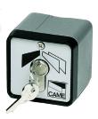 Sélecteur à clé avec boîtier en alliage léger, application apparente, clé DIN