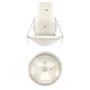 Détecteur mouvements compact encastré plafond 360DEG blanc 1c IP 54