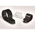 Bride plastique à visser pour câble de diamètre 11 mm en PA66 naturel - H6P