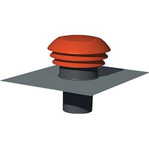 Chapeau de toiture plastique design, D raccordement 125 mm, couleur tuile