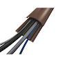 PG12 : passage de plancher rigide - PVC marron - 2 m - 2 canaux D=12 mm