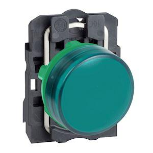 Harmony XB5 - voyant - avec LED - 24VACDC - D=22 - cabochon lisse vert