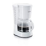 Cafetière filtre, blanc, 800 W, filtre pivotant avec porte-filtre amovible 1x4 e
