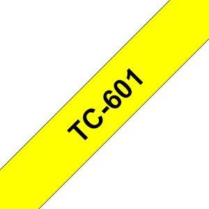 Ruban TC-601 pour étiqueteuse  Noir sur Jaune  12 mm