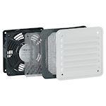 Ventilateur 30/160 m³/h avec ouïe métal - IP32 IK10 - RAL7035