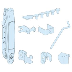 Accessoires de fermeture d'armoire, IP30, Système G