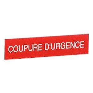 ETIQUETTE 90X90 COUPURE D'URGENCE