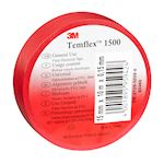 3M Temflex 1500 Ruban d'isolation électrique 10m x 15mm Rouge