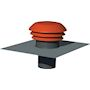 Chapeau de toiture plastique design, D raccordement 150/160 mm, couleur tuile