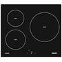Table induction 60 cm - 3 foyers dont 1 D= 28 cm - 6,4 kW - Commandes sensitives