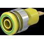 Douille 4 mm de sécurité vert/jaune