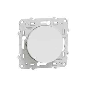 Odace, va-et-vient lumineux Blanc 10 A à vis LED orange 1,5 mA local. ou temoin