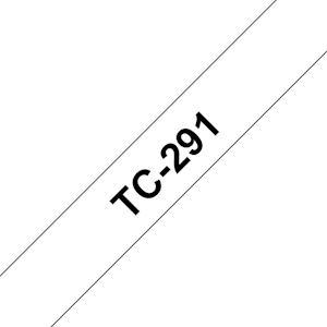 Ruban TC-291 pour étiqueteuse  Noir sur Blanc  9 mm