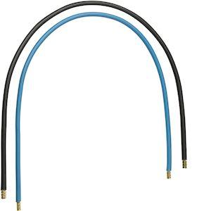 Jeu 2 conducteurs 16 mm² bleu + noir, longueur 450 mm