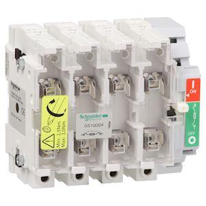 TeSys GS1 - bloc de base interrupteur-sectionneur fusible - 4P 4F - DIN - 400A
