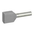 Embout de câblage Starfix - pour conducteurs section - 2x2,5 mm² - gris