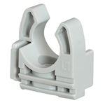 Lyre grise pour tube IRL D=20mm avec fixation des tubes par simple clipsage