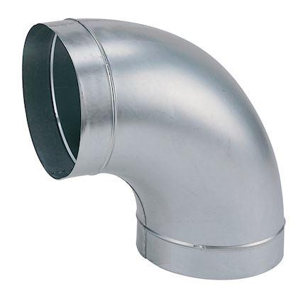 Coude 45/° m/étallique /Ø 100mm pour conduit de ventilation galva ATLANTIC CLIMATISATION 523851