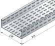 Dalle perforée BS à bords roulés fermés de sécurité, hauteur 48, largeur 100, SZ