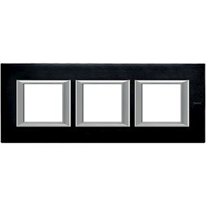 2 Modules Chrome BTicino HA4802CR Aluminium Anodis/é Plaque Rectangulaire Axolute