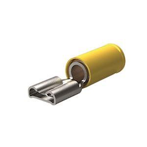 Clip FASTON Jaune 2,6 à 6,6mm²-Clip: 9,5x1,2mm-Laiton étamé