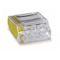 Borne individuelle isolée transparente côté jaune 4 C (1-2,5 mm²)