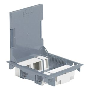legrand 089620 boite de sol grise 10 modules vertical h. Black Bedroom Furniture Sets. Home Design Ideas