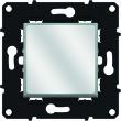 Poussoir lumineux porte-étiquette 6 A - 250 V~  - Blanc/Magnésium