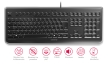 CHERRY KC 1068 - Clavier std avec enveloppe de protection soudée - protection IP