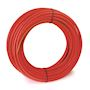 Tube PER gainé rouge 25x2,3 - 50m