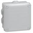 Bte carrée 105x105x55 étanche Plexo Gris - embout (7) -IP55/IK07- 650°C