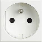 Prise de courant 2P+T Livinglight à bornes automatiques - blanc - 2 modules